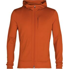 Icebreaker Quantum III LS Zip Hood Jacket Men spice